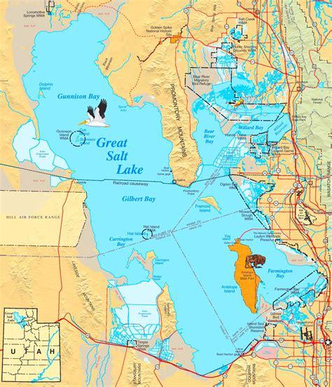 salt lake city usa map large detailed map of great salt lake