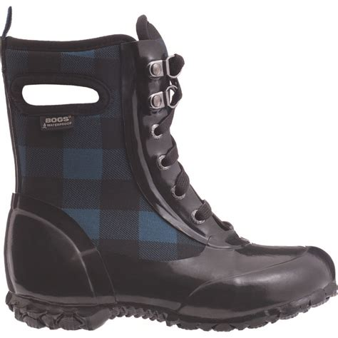 plaid boots bogs sidney lace buffalo plaid boot backcountry