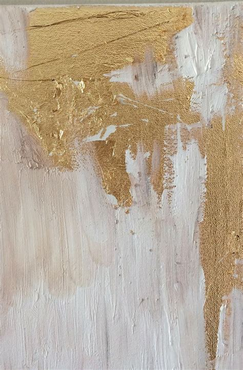 How To Make Diy Gold Leaf Abstract Art Love This Glam
