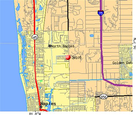 zip code map naples fl 34105 zip code naples florida profile homes