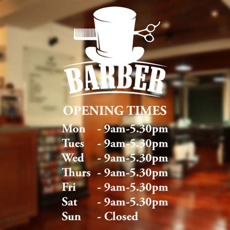 10 Signs Its A Beautician by Barber Shop Opening Times Wall Sticker Custom Decal Sign