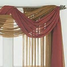 How To Hang Curtain Scarves 1000 Ideas About Window Scarf On Pinterest Elegant