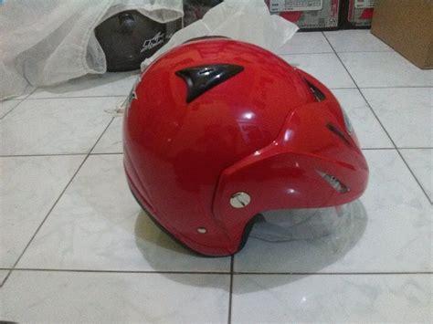 Helm Ink Klasik Merah jual beli helm basic standart tanduk topi ink cx22