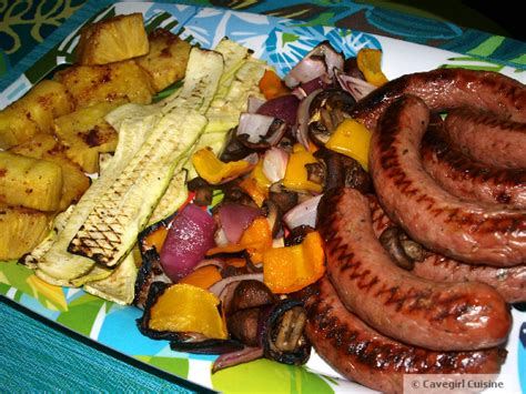 paleo recipes cavegirl cuisine paleo grill feast veggies and sweet italian sausage paleo