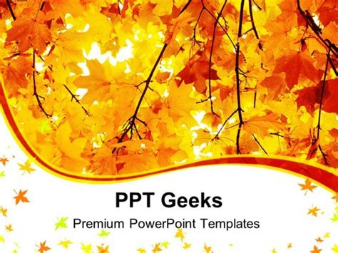fall powerpoint templates free maple in autumn forest
