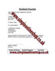 dividend certificate template dividend voucher dividend resolution forms and