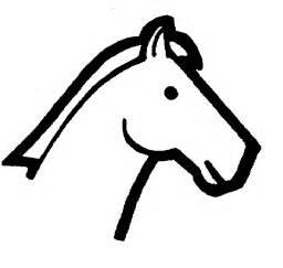 printable horse stencils cliparts co