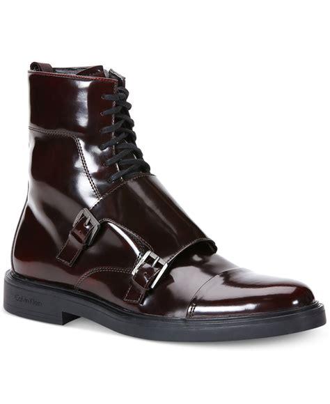 calvin klein boots calvin klein davis box boots in black for lyst