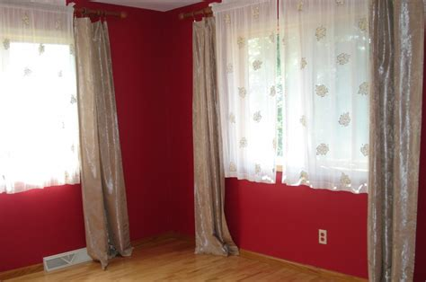 what colour curtains go with red walls best color for a room with minimalist red wall color and