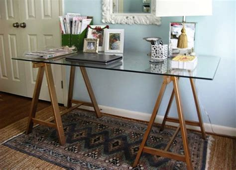 Diy Glass Top Desk Diy Desk 5 You Can Make Bob Vila