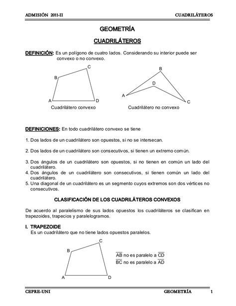 Cuadrilateros geometria