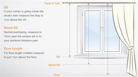 how to measure a window for drapes curtain measuring guide