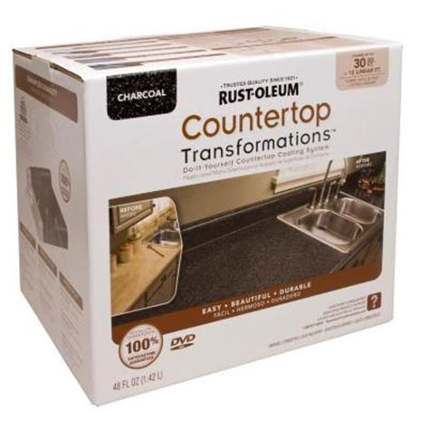 Menards Countertop Paint by Rust Oleum Transformations 1 Qt Charcoal Small Countertop