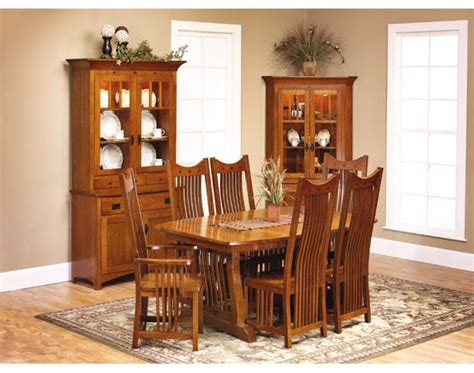 mission dining room classic mission dining room furniture amish dining room