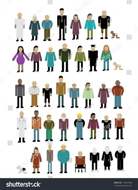 Free Search For Peoples Address Different Types Of Peoples With Their Properties Human Figures Illustrations