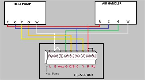 honeywell thermostat wiring diagram for heat