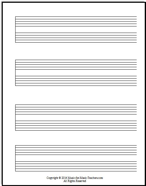 printable staff paper with bar lines staff paper pdfs download free staff paper