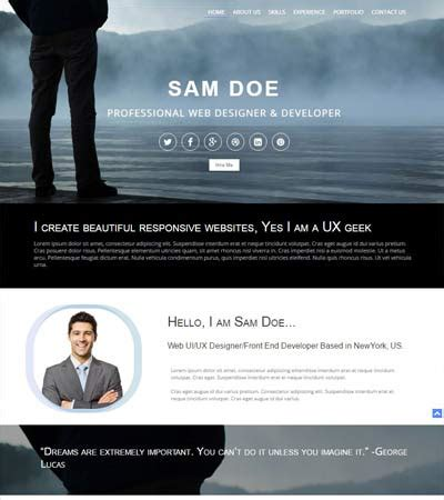 Best Portfolio Website Template Free Webthemez Professional Portfolio Website Templates