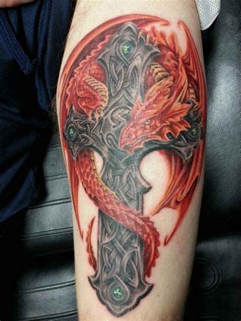 celtic dragon tattoo design celtic tattoos and designs page 110