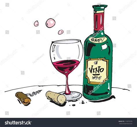 cartoon wine bottle cartoon bottle wine glass stock vector 115975570