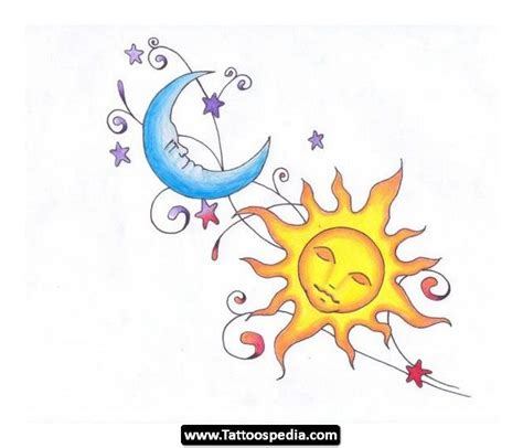 sun moon stars tattoo 60 and sun tattoos ideas with meaning