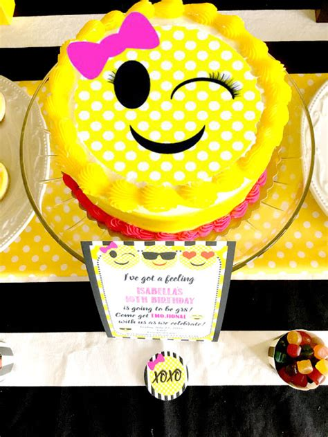 birthday themed emojis emoji themed birthday party pretty my party