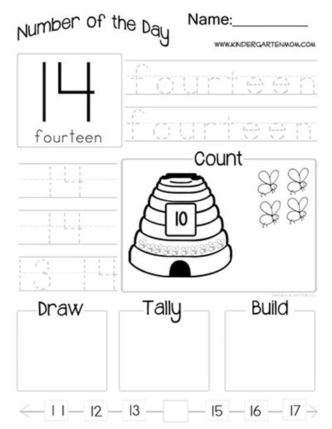 Count And Draw Worksheets by Number Of The Day Worksheets Write Number Word Count