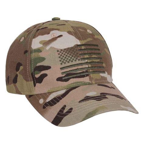 multicam embroidered us flag baseball hat