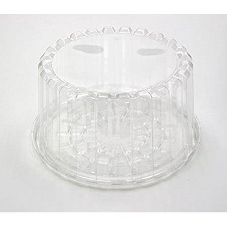 10 Inch Plastic Cake Container Dome Lid - pactiv yci898010000 8 inch plastic cake container