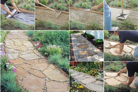 step by step diy garden steps and stairs the garden glove how to make flagstone garden path step by step diy