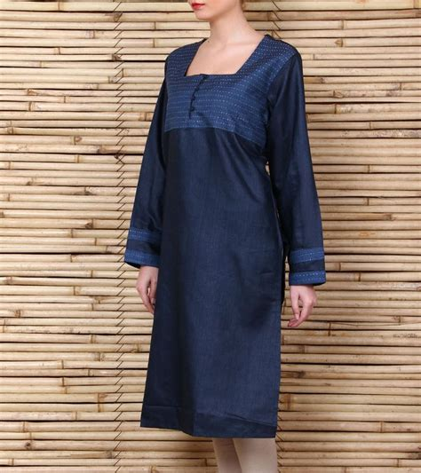 kurta stitching pattern blue silkkurta with kantha work kantha is the