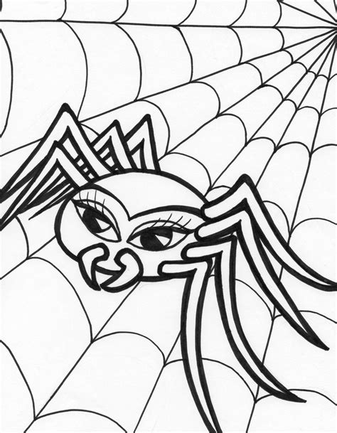 halloween coloring pages spider web halloween coloring pages for kids spider hallowen