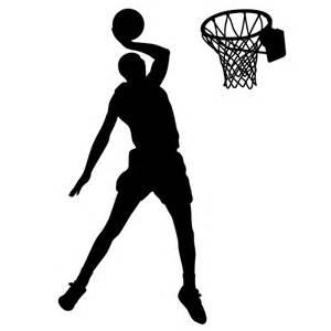basketball silhouette basketball player dunking the basketball decor basketball player