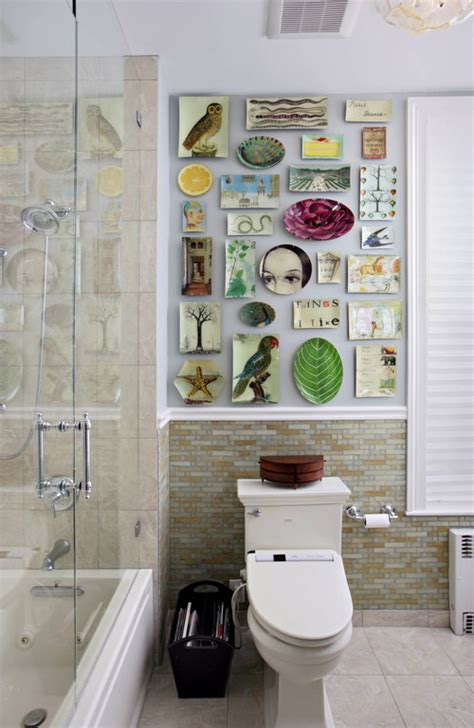 eclectic bathrooms worthwhile domicile simple ideas for wall art