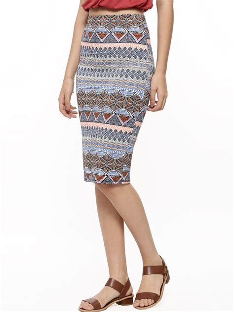 buy new look tribal print pencil skirt for s