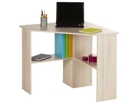 petit bureau angle bureau informatique d angle angus coloris acacia vente