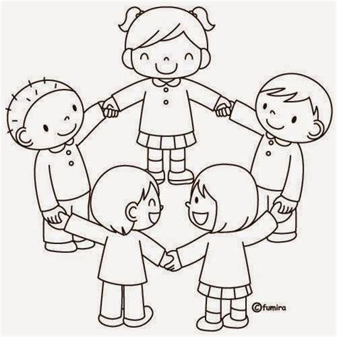 imagenes de niños jugando en grupo para colorear dibujos para colorear maestra de infantil y primaria el