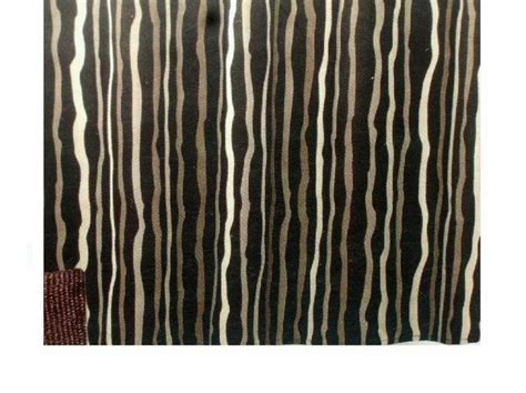 Black Striped Curtains Black Striped Brown Fabric Shower Curtain