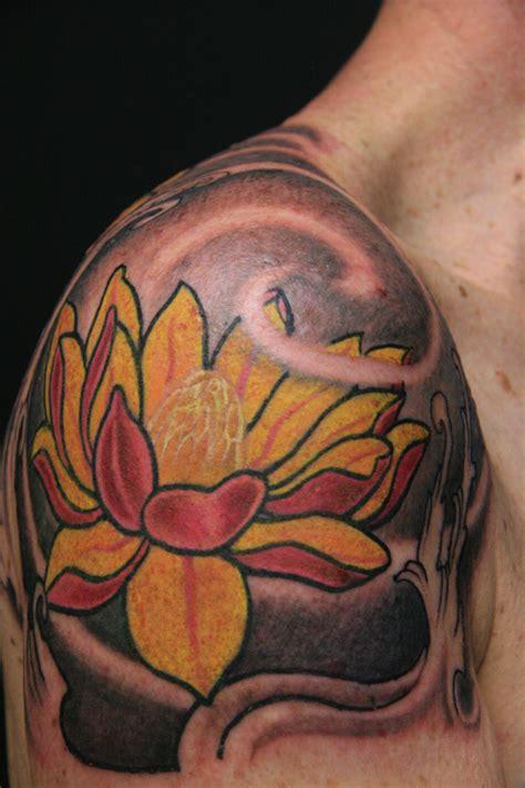 oriental lotus tattoo design traditional japanese lotus flower male tattoo design idea