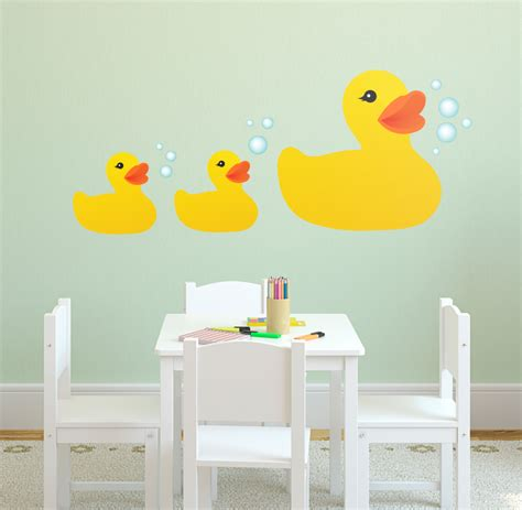 rubber ducky and friends printed wall decal vinyl home decor 9 quot x21 quot ebay