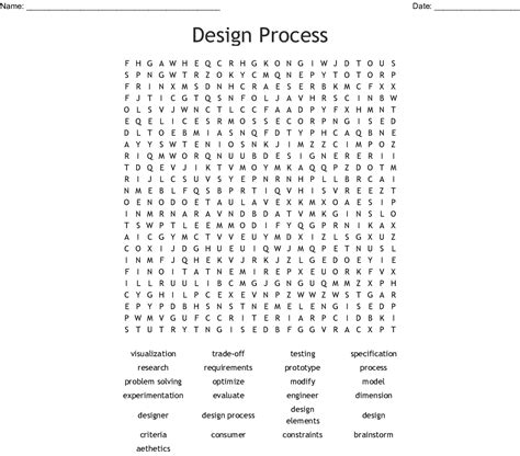 design process word search wordmint