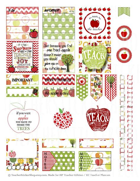 printable teacher planner stickers inspirational free printable stickers for teachers