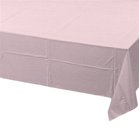 pale pink table cover pale pink poly tissue tablecover 1 pc710129