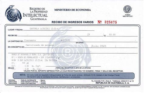pagos de patente 2016 01 recibo de pago por certificado de patente