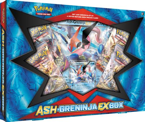 trading card ash greninja ex box for card