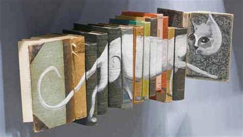 libro thinking through painting old books used as canvas