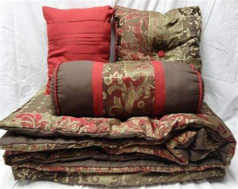 burgundy and gold comforter set king mainstays 7 piece jacquard comforter king bedding set