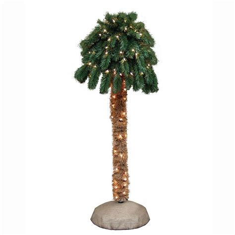 outdoor lighted palm tree home depot general foam 4 ft pre lit palm artificial christmas tree