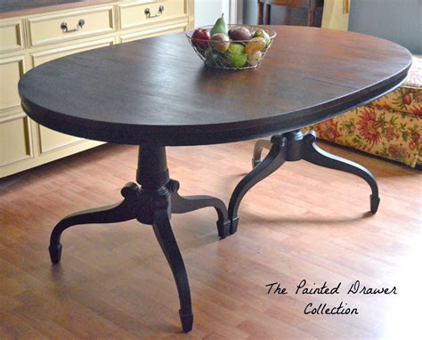 dye stain and gel stain classic dining room table