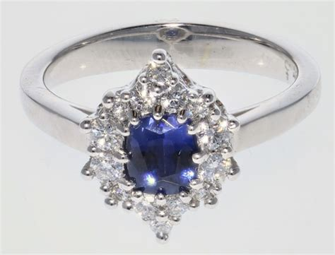 benitoite engagement ring 14kw benitoite ring mardon jewelers